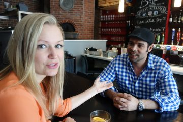 Shannon Tebb at Basso Pizzeria in Toronto