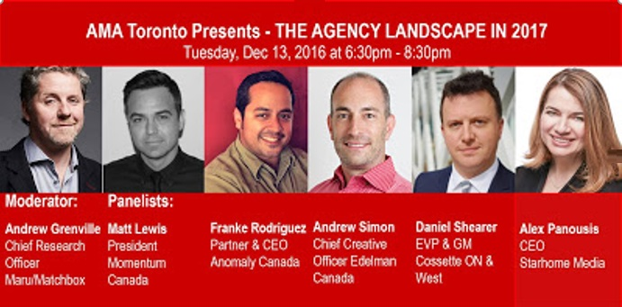 2017 advertising agency landscap - AMA Toronto