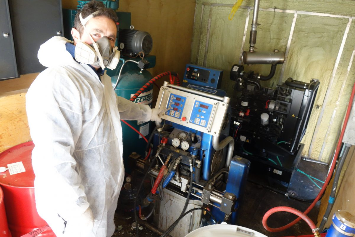 Everest Insulation - Spray Foam Machinery in the Truck