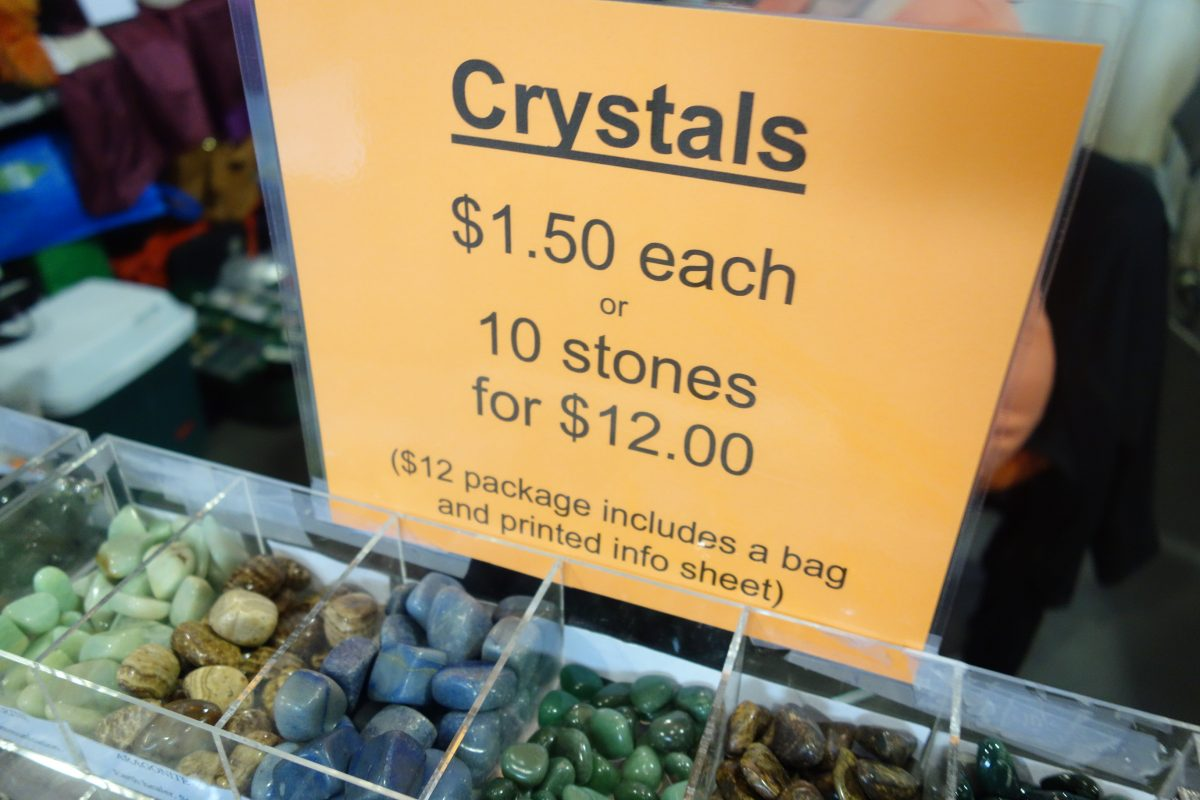 Crystals are one dollar and fifty each