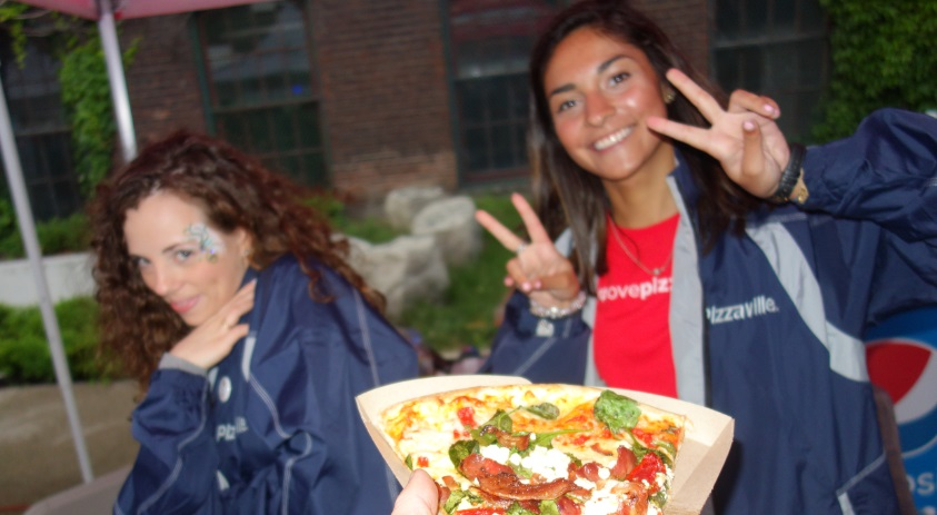 free pizza in liberty village street party 15 June 2017