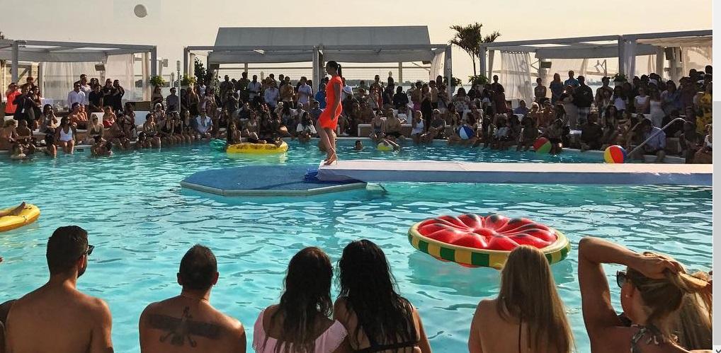 fashion show at Cabana pool bar 2017