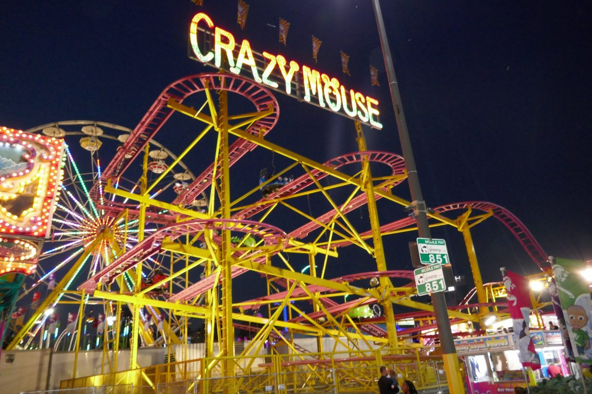 Crazy Mouse roller coaster at CNE in Toronto