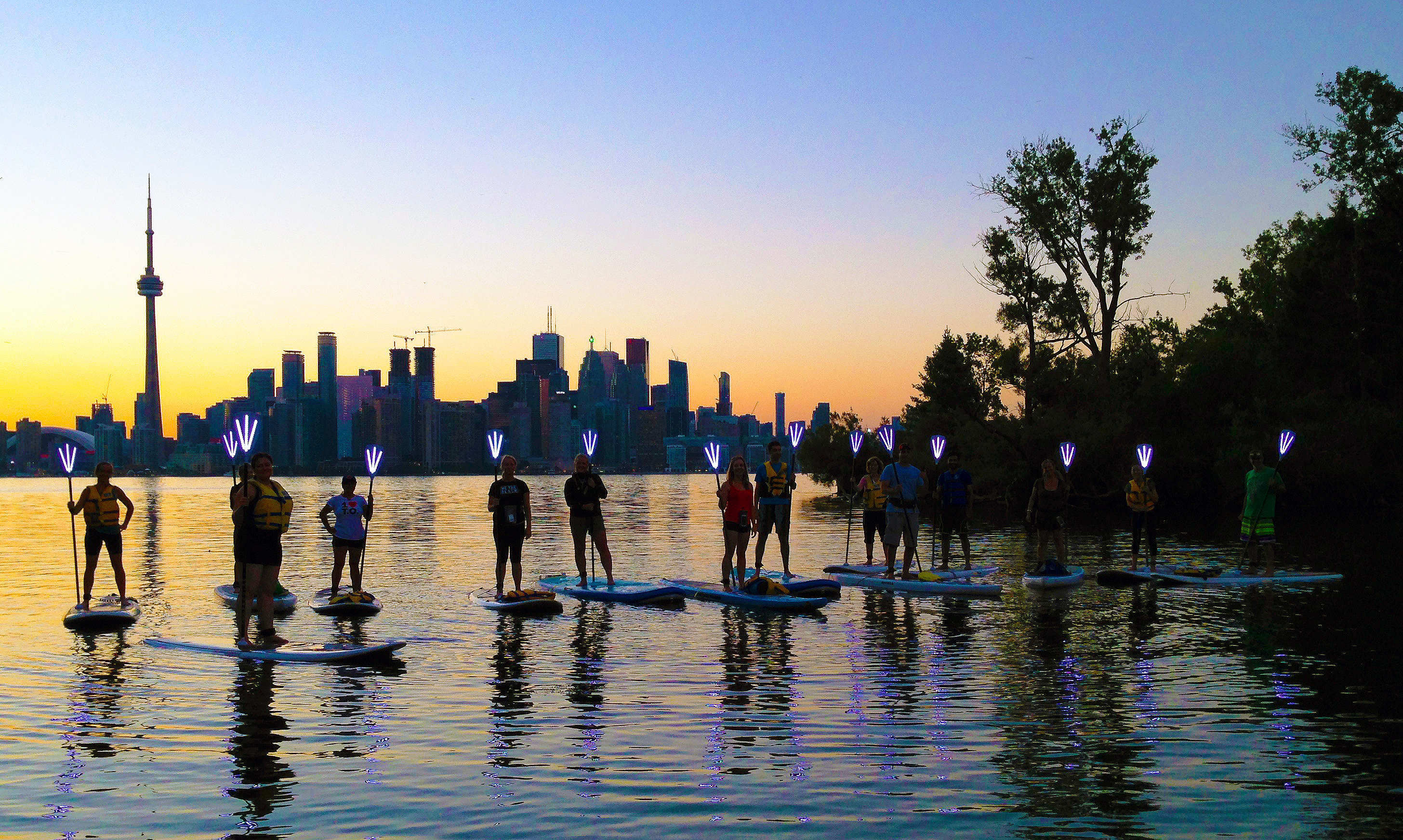 Toronto Island SUP in the sweet spot at the mouth of channel