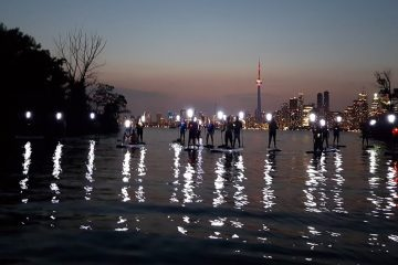 Night SUP Toronto Island