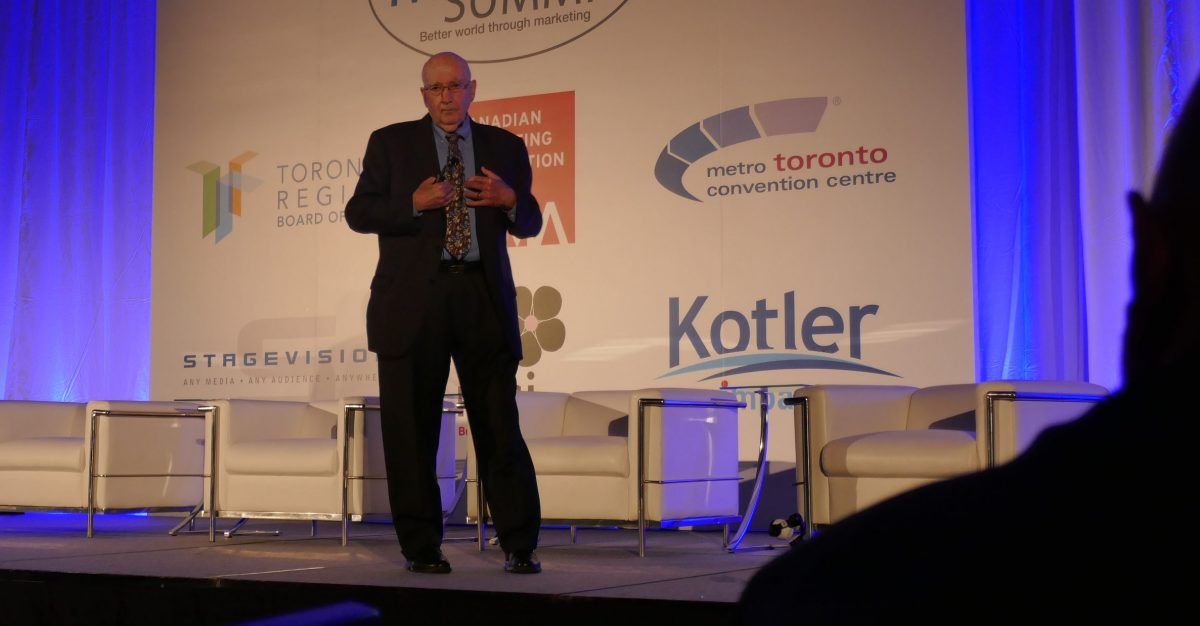 Philip Kotler at World Marketing Summit -WMS Toronto 2017