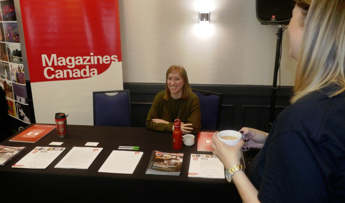 Magazines Canada booth at MagNet2018