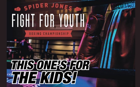 Fight for Youth promo badge, Spider Jones, 18 April 2018