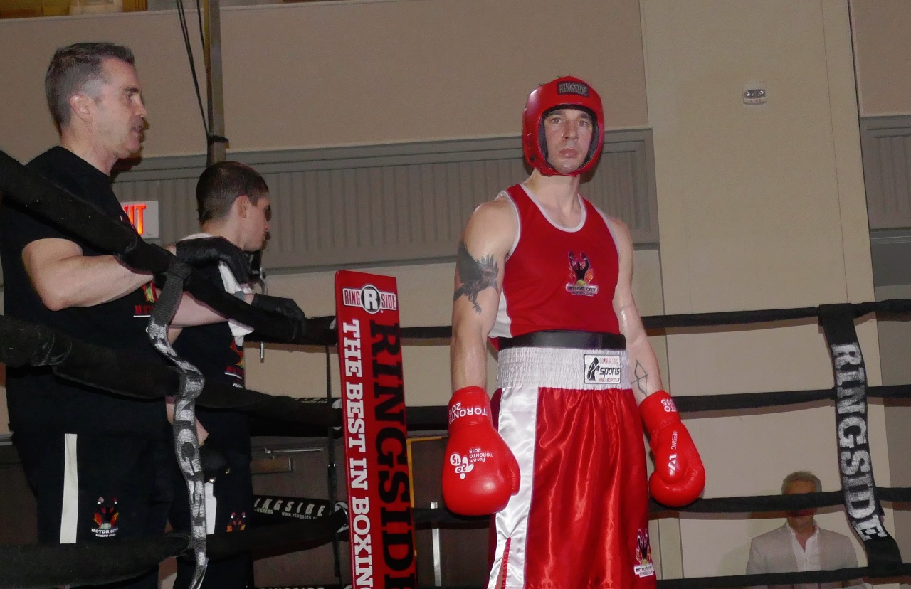 red boxer before fight
